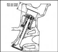 5.7  Очистка и осмотр головки цилиндров и клапанов Saab 9000