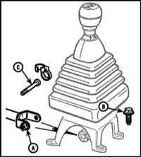 12.4  Снятие, осмотр и установка на место привода переключения передач