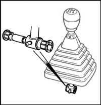 12.4  Снятие, осмотр и установка на место привода переключения передач Saab 9000