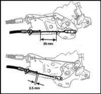13.4  Регулировка тросика устройства автоматического понижения передачи   трансмиссии (kickdown)