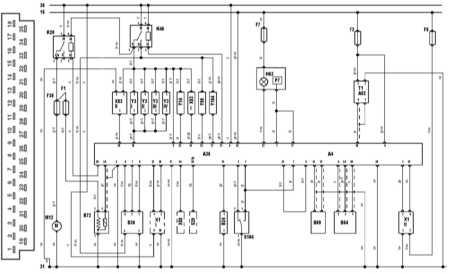 19.15 управления и разъем блока управления Bosch Jetronic 2.4 на моделях по 91 г