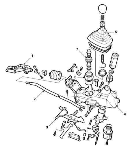 7.4 Регулировка, снятие и установка привода переключения передач и замка зажигания