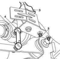13.10 Снятие и установка датчиков регулировки наклона фар