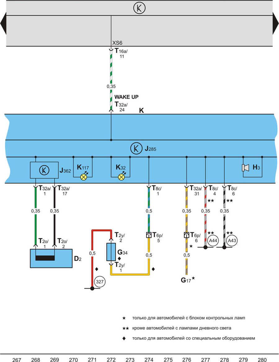 Skoda octavia a4 схема предохранителей