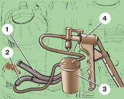 4.11 Снятие и установка вакуумного насоса дизельного двигателя