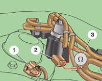 4.25 Проверка элекромагнитного клапана рециркуляции отработавших газов