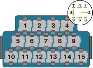 4.26 Проверка реле топливного насоса двигателей 1,4 л, 55 и 74 кВт