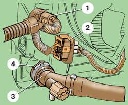 5.3 Снятие и установка радиатора на моделях без кондиционера