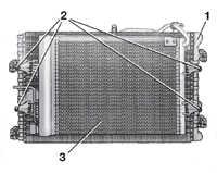 5.4 Снятие и установка радиатора на моделях с кондиционером