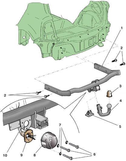 11.7 Снятие и установка тягово-сцепного устройства