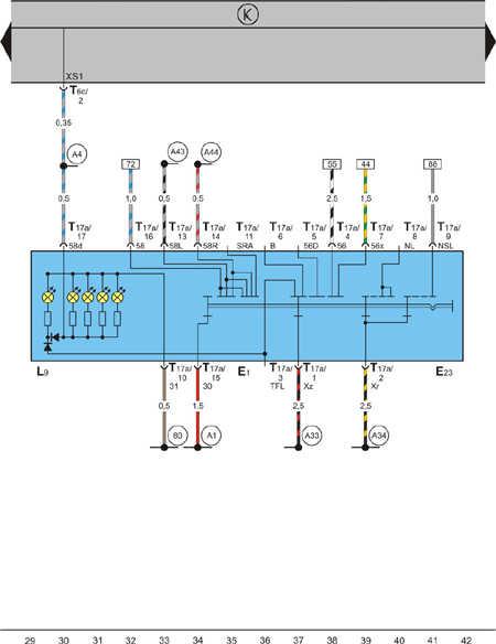 схема подключения стартера skoda fabia