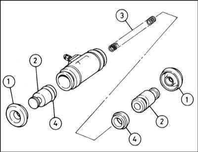 11.10 Снятие, капитальный ремонт и установка колесных цилиндров задних тормозных механизмов