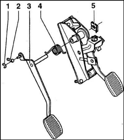8.2 Снятие и установка педали сцепления