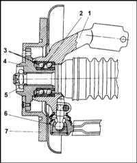 12.3 Замена подшипников передних колес