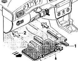 1.2.28 Переключатель корректора фар (дополнительное оборудование)