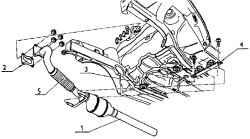 8.3 Выхлопная система в сборе (двигатель 1,9 TDI – 66 кВт)