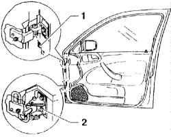 2.35.3 Разборка и сборка передних дверей Skoda Octavia