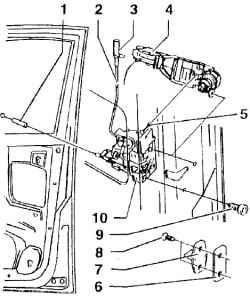 2.35.5 Сборочная схема замка двери