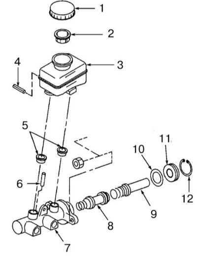 11.13 Снятие и установка главного тормозного цилиндра