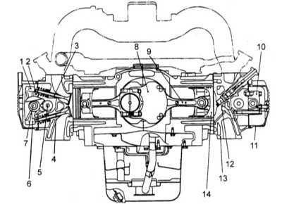 4.1 Конструктивные особенности и принцип функционирования двигателя, - общая информация и регулировка клапанных зазоров