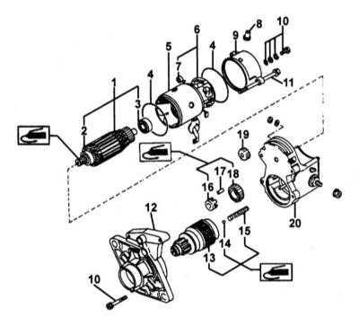 7.18 Стартеры Nippondenso - проверка и обслуживание Subaru Forester