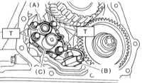 9.14 Замена электромагнитных клапанов переключения, исполнительных   электромагнитных клапанов и датчика температуры ATF