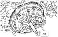 10.2.2 Снятие, проверка состояния и установка компонентов сборки сцепления