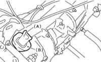 10.2.3 Снятие, проверка состояния и установка выжимного подшипника и   рычага выключения сцепления
