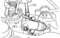 10.2.8 Удаление воздуха из гидравлического тракта привода выключения   сцепления