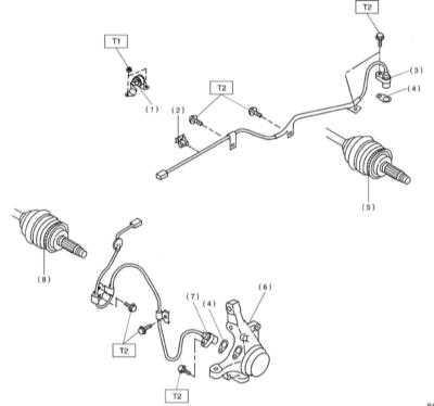11.29 Снятие, установка и проверка исправности функционирования передних   колесных датчиков ABS
