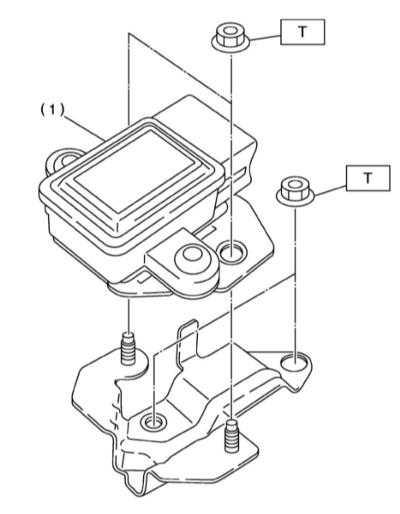 11.37 Снятие, установка и проверка исправности функционирования датчика   увода/поперечных перегрузок