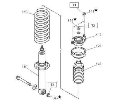 12.3.4 Снятие, обслуживание и установка задних телескопических амортизаторов