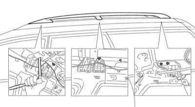 13.13 Снятие и установка профильных направляющих верхнего багажника