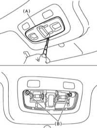 14.21 Снятие, проверка состояния и установка переключателя управления   функционированием электропривода верхнего люка