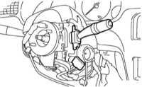 14.22 Снятие, проверка состояния и установка комбинированных подрулевых   переключателей Subaru Legacy Outback