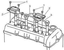 2.1.15 Снятие и установка катушки зажигания (с воспламенителем)