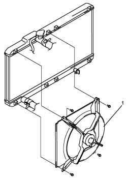 2.3.10 Снятие и установка вентилятора системы охлаждения