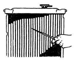2.3.11 Проверка и очистка радиатора на автомобиле