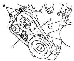 2.3.14 Снятие и установка приводного ремня насоса охлаждающей жидкости / генератора Suzuki Liana