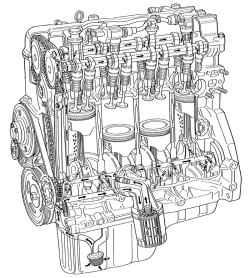 2.4.2 Описание системы смазки двигателя