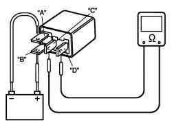 2.8.13 Проверка системы управления вентилятора радиатора Suzuki Liana