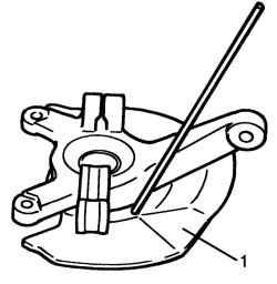 4.3.11 Разборка и сборка ступицы переднего колеса и поворотного кулака