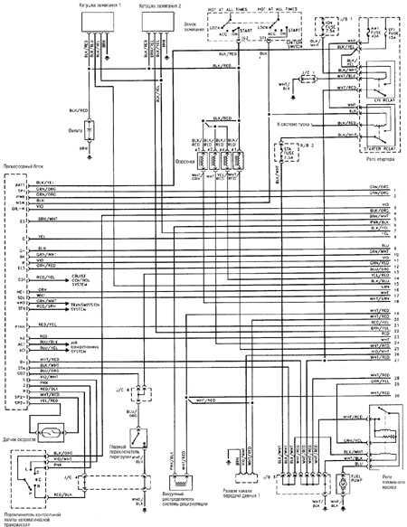 12.4 Типовая схема электрооборудования 4-цилиндрового двигателя