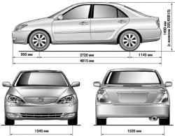 1.1.2 Габариты и новый дизайн кузова автомобиля Camry