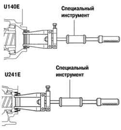 3.3.16 Замена переднего сальника дифференциала автоматической коробки передач (U140Е / U241Е)
