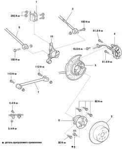 3.4.4 Компоненты приводного механизма Toyota Camry