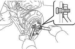 3.4.6 Замена болта ступицы переднего колеса Toyota Camry