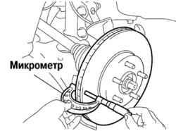 6.11.6 Измерение толщины тормозного диска