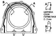4.16 Замена заднего уплотнительного кольца коленчатого вала
