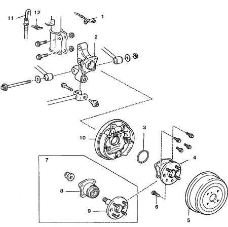 10.13 Ступица и подшипник (заднего колеса) Toyota Corolla
